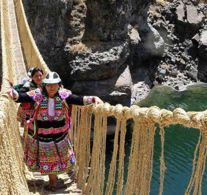 Peru Queswachaka Rope Bridge Peru