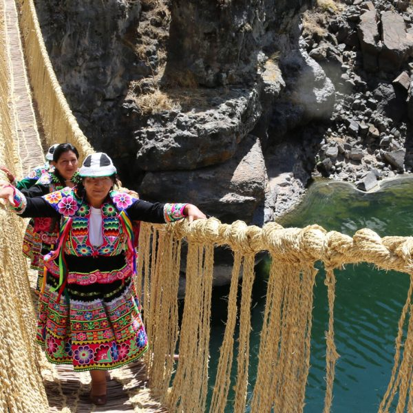 Peru Queswachaka Rope Bridge Ayni Peru L1
